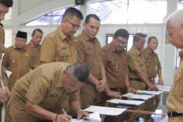 Bappeda Asahan, Gelar Penandatanganan Secara Kolektif PK OPD dan Kecamatan Tahun 2020
